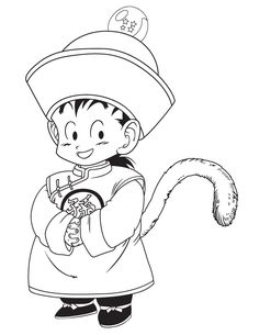 Dragon Ball Z Kid Gohan Coloring Page