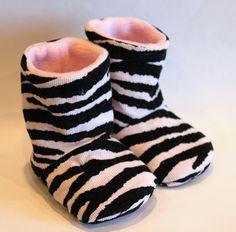 Zebra Baby Boots by Krissyscraftshop on Etsy