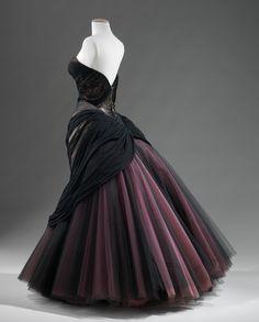 """Swan"" Dress, Charles James (American, 1906-1978): 1953, silk, chiffon, satin, nylon."