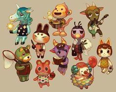 Animal Crossing new leaf charecters