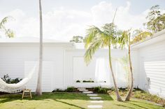 the hamptons hammock Garden Spaces, Garden Beds, Outdoor Spaces, Outdoor Living, Outdoor Decor, Outdoor Furniture, Three Birds Renovations, Lush Lawn, Internal Courtyard