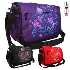 New Womens Girls Owl Pattern Canvas School College Uni Messenger Satchel Bag Purple And Black, Pink Purple, Messenger Bags For School, Uni, Owl Patterns, Best Laptops, E Bay, New Girl, School Bags