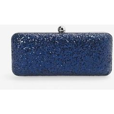 White House Black Market Embellished Box Clutch ($89) ❤ liked on Polyvore featuring bags, handbags, clutches, purses, white house black market, hardcase clutch, velvet handbags, velvet clutches, glitter purse and blue handbags