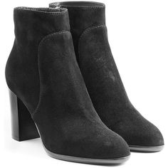 Sergio Rossi Suede Ankle Boots ($325) ❤ liked on Polyvore featuring shoes, boots, ankle booties, black, black suede bootie, bootie boots, short black boots, black suede ankle booties and short boots