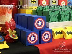Captain America Party, Captain America Birthday, 4th Birthday Party For Boys, Baby Boy 1st Birthday, Avengers Birthday Cakes, Superhero Party Decorations, Superman Party, Mario Bros, Avengers Birthday Parties