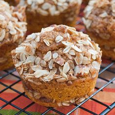 Pumpkin Cinnamon Streusel Muffins Recipe on Yummly