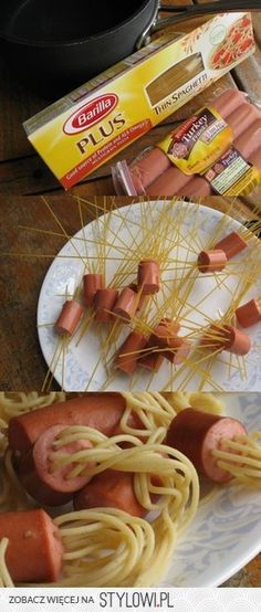 sausages + pasta for spaghetti = fast meals and other thing I have made for youth group a few times, they love them!