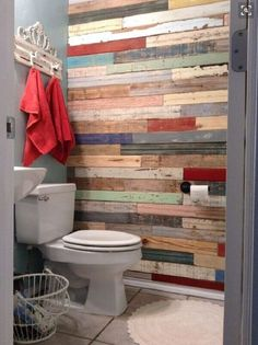 Creative 41 Diy Pallet Bathroom Walls Ideas 62 Diy Bathroom Renovation Wood Wall Salvaged Fence and 6 diy bathroom ideas Creative! 41 DIY Pallet Bathroom Walls That Will Make Your Bathroom Stunning - DecoRecent Pallet Wall Bathroom, Diy Pallet Wall, Diy Bathroom, Pallet Walls, Diy Pallet Projects, Bathroom Wall Ideas, Pallet Ideas, Pallet Wood, Neutral Bathroom