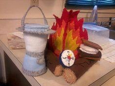 Campfire Set Logs Lantern Compass Smore by IFeltItUp on Etsy, $37.00