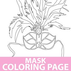 Mask Coloring Page...would be fun for the kids.