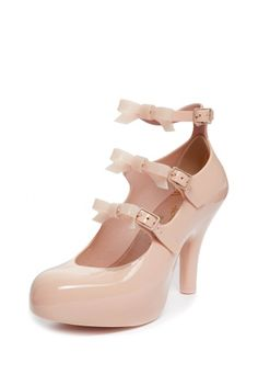 Vivienne Westwood's  Autumn/Winter 2013-14 Nude Elevated Three Straps with Bow $237