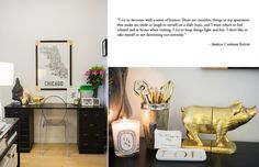 Cute Accessories & Styling - Amelia Canham Eaton's Chicago Apartment #theeverygirl