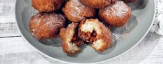These sweet bites are perfect for a party! Fried Cinnamon Apple Biscuits by Carla Hall.