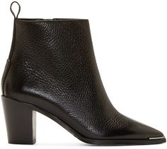 Acne Studios Black Grained Leather Loma Boots