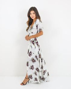 Practical Magic Floral Wrap Maxi Dress