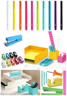 colorful office accessories. Pretty Poppin Desk Accessories! Colorful Office Accessories E