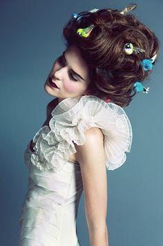 Ruffles and Birds Updo's   VISIT US FOR #HAIRSTYLES AND #HAIR ADVICE  WWW.UKHAIRDRESSERS.COM