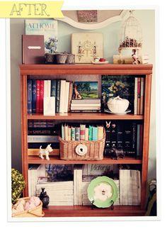 Book shelf. home tour   Celebrating everyday life with Jennifer Carroll