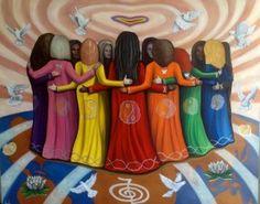 Wild Women Sisterhood celebrating International Women's Day & beyond ❤️ Native Art, Native American Art, Medicine Wheel, Sacred Feminine, Devine Feminine, Soul Sisters, We Are The World, Female Art, Artsy