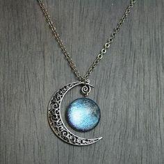 Aurora Moonlight Antique Silver Necklace | Etsy.com