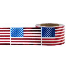 Red U.S. Flags Decorative Tape • Little B Foil Tape