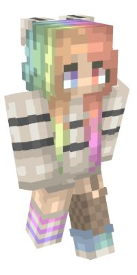 Check out our list of the best Girl Minecraft skins. Neko, Capas Minecraft, Skins Minecraft, Rainbow, Check, Minecraft Girl Skins, Daughter, Other, Rain Bow