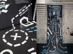 Best Technical Museum Vienna Bleed images on Designspiration Floor Signage, Wayfinding Signage, Signage Design, Environmental Graphic Design, Environmental Graphics, Display Design, Booth Design, Interactive Installation, Art Installation