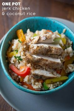 Cooking for your family is one thing . . . doing their dishes is quite another. Cut down your time in the kitchen by trying one of these one-pot meals! These 15 kid-friendly dinner ideas are easy AND tasty! Pictured: One-Pot Jerk Chicken and Coconut Rice