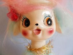 Vintage Cotton Candy Poodle