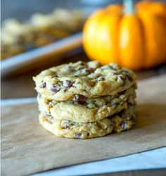 I used sweet potato instead of pumpkin Chewy (not cakey) Pumpkin Chocolate Chip Cookies