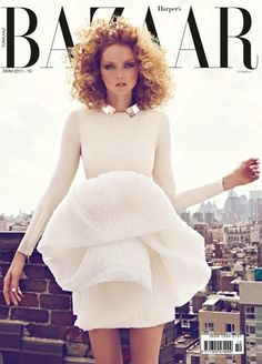 Lily Cole in Giambattista Valli, photographed by Koray Birand for Harper's Bazaar Türkiye October Fashion Magazine Cover, Fashion Cover, Magazine Covers, Lauren Hutton, Sweater Weather, Vanity Fair, High Fashion, Fashion Beauty, Lily Cole