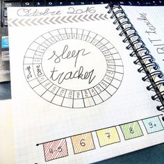 Préparation du mois d'octobre #1  #bulletjournal #bujojunkies #bulletjournalfr #sleeptracker #tracker #october #octobre