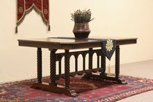 """Renaissance Carved 1915 Dining Table, Extends 8' 10"""""""