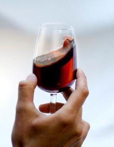 swirling wine glass