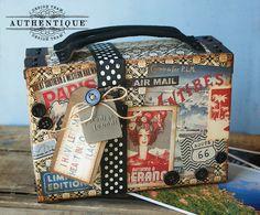 "Papel Authentique: Paquete de su maleta con ""Extranjero"""