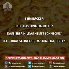 Beim Bäcker ... #derneuemann #humor #lustig #spaß #backen