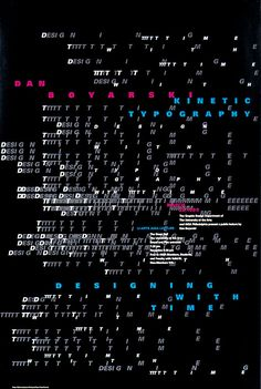 William Longhauser, Kinetic Typography: Designing with Time. A lecture by Dan Boyarski, 1999