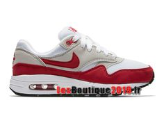 buy popular ef025 27bae Nike Wmns Air Max 1 87 Premium QS Air Max Day Rouge Blanc Chaussures Nike