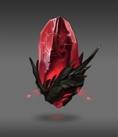 Red crystal, Alexandra Forman on ArtStation at https://www.artstation.com/artwork/red-crystal