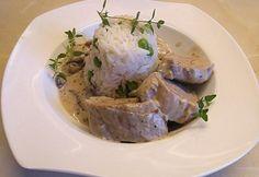 Portobello, Dinner Recipes, Pork, Turkey, Favorite Recipes, Meals, Pork Roulade, Peru, Power Supply Meals
