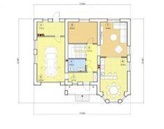 Проект дома с мансардой, 177,79 м2 | Проекты домов и коттеджей Planer, Floor Plans, House, Houses, Modern House Plans, Home Plans, Home, Homes, Floor Plan Drawing