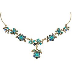 Michal Negrin Jewelry Crystal Flower Necklace - 100-107320-006 (7.535 RUB) ❤ liked on Polyvore featuring jewelry, necklaces, crystal stone necklace, michal negrin necklace, michal negrin, crystal jewellery and crystal necklace
