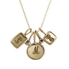 Mix and match to create a one of a kind necklace! Mix charms of gold bronze stamped with initials and make a necklace that is the perfect gift for mom or yourself! Great Gifts For Mom, Perfect Gift For Mom, Personalized Charms, Initial Charm, Gold Filled Chain, Beautiful Necklaces, Initials, Jewelry Accessories, Gold Necklace