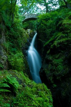 Definitely getting the urge to go to the Lakes again soon... Aira Force Waterfall near Ullswater in the Lake District, UK