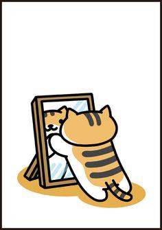 Crazy Cat Lady, Crazy Cats, Neko Atsume Wallpaper, Cute Cat Drawing, Cat Cafe, Colorful Drawings, Cat Design, Cat Memes, Animal Drawings