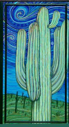 Cactus at Dusk by Maria Vandermolen
