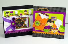 Adorable Doodlebug Halloween Parade Cards by Tiffany Hood.