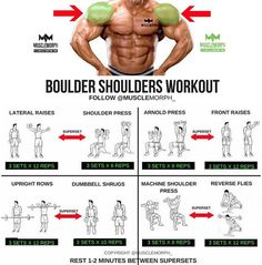Boulder shoulder workout Superset musclemorph https://musclemorphsupps.com