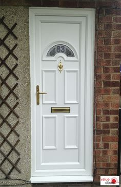 External uPVC Doors in White are the most affordable. When you're wanting to buy uPVC Doors you'll love our collection of uPVC Doors and Frames. With a new uPVC Door you can enter your home in style! Upvc Porches, Upvc French Doors, Doors Online, Composite Door, Front Door Colors, White Doors, Back Doors, Tall Cabinet Storage, Frames