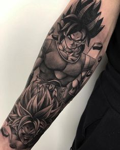 roly. ブロリ Muchas gracias Lluís. Realizado en @durantattoostudio . Para citas 📩ldurantattoo@gmail.com  #realism #realismtattoo Anime Tattoos, Skull Tattoos, Body Art Tattoos, Sleeve Tattoos, Kakashi Tattoo, Tattoos Costas, Tattoo No Peito, Geometric Wolf Tattoo, Hunter Tattoo